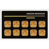 Investiční zlato, slitek Argor Heraeus Multicard 10 x 1g