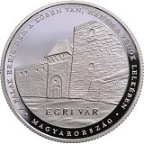 """Pamětní stříbrná mince, 10000HUF """"Hrad Eger"""" proof"""