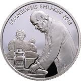 Pamětní stříbrná mince, 10000HUF 200. výročí narození Ignáce Semmelweise proof