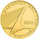 Pamětní zlatá mince, 5000Kč Mariánský most v Ústí nad Labem stand