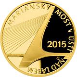 Pamětní zlatá mince, 5000Kč Mariánský most v Ústí nad Labem proof