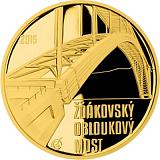 Pamětní zlatá mince, 5000Kč Žďákovský obloukový most proof