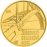 Pamětní zlatá mince, 5000Kč Žďákovský obloukový most stand