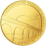 Pamětní zlatá mince, 5000Kč Negrelliho viadukt v Praze stand