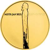 Pamětní zlatá mince, 10000Kč Jan Hus proof