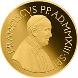 Pamětní zlatá mince, 200EUR Pontifikát papeže Františka 2013 - Teologické ctnosti: Naděje