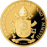 Pamětní zlatá mince, 100EUR Pontifikát papeže Františka 2017 - Evangelisté: Svatý Jan