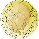Pamätná zlatá minca, 100EUR Pontifikát pápeža Františka 2015 -  Evanjelisti: Svätý Matouš