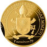 Pamětní zlatá mince, 100EUR Pontifikát papeže Františka 2016 - Evangelisté: Svatý Lukáš