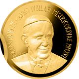 """Pamětní zlatá mince, 50EUR Pontifikát papeže Františka 2016 - """"Svatá chýše"""""""