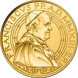 Pamětní zlatá mince, 50EUR Pontifikát papeže Františka 2013 - 500. výročí úmrtí papeže Julia II.