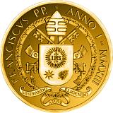 Pamětní zlatá mince, 20EUR Pontifikát papeže Františka 2013 - 500. výročí úmrtí papeže Julia II.
