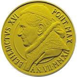 """Pamětní zlatá mince, 20EUR Pontifikát Benedikta XVI. 2011 - Obnovení Pavlovy kaple """"Ukřižování svatého Petra"""""""