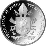 """Pamětní stříbrná mince, 10EUR Pontifikát papeže Františka 2016 - """"Světový den mládeže"""""""