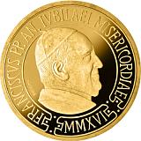 Pamětní zlatá mince, 10EUR Pontifikát papeže Františka 2016 - křest