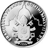 """Pamětní stříbrná mince, 5EUR Pontifikát papeže Františka 2017 - """"50. Světový den míru"""""""