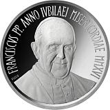 """Pamětní stříbrná mince, 5EUR Pontifikát papeže Františka 2016 - """"49. Světový den míru"""""""