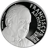 Pamětní stříbrná mince, 5EUR Pontifikát papeže Františka 2015 - XVI. řádné valné shromáždění biskupského sněmu