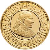 Pamětní zlatá mince, 100000ITL Pontifikát Jana Pavla II. 2001 proof