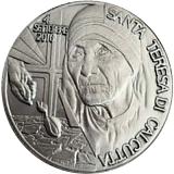 Strieborná pamätná medaila ku Svätorečeniu Matky Terezy