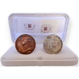 Pamätný diptych - strieborná a bronzová medaila k Svätorečeniu Matky Terezy