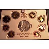 Pamätná zlatá medaila v sade obežných mincí, pontifikát pápeža Benedikta XVI. 2011
