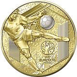 """Pamětní zlatá mince, 200EUR 1 oz 2016 """"Velká sportovní událost - UEFA Cup"""" proof"""