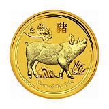 Investiční zlatá mince Lunární série - rok vepře 200AUD 2 oz