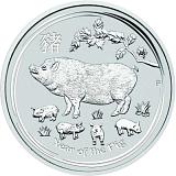 Investiční stříbrná mince Lunární série - rok vepře 5AUD 5 oz