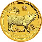 Investiční zlatá mince Lunární série - rok vepře 1000AUD 10 oz