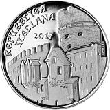 """Pamětní stříbrná mince, 5EUR """"Série Italské umění - Trentino Alto Adige"""" proof"""