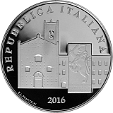 Pamětní stříbrná mince, 5EUR Recanati proof