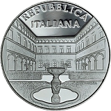Pamätná strieborná minca, 5EUR Villa Cicogna Mozzoni v Bisuschiu proof