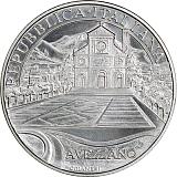 """Pamätná strieborná minca, 5EUR """"100. výročie zemetrasenia v Avezzane"""" stand"""