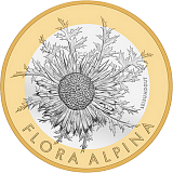 "Pamätná minca, 10CHF ""Bodliak Carline"" v sade mincí 2018 proof"