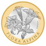 """Pamětní mince, 10CHF """"Hořec"""" v sadě mincí 2017 stand"""