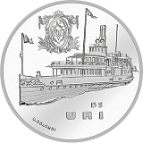 """Pamätná strieborná minca, 20CHF """"Parník Uri"""" proof"""