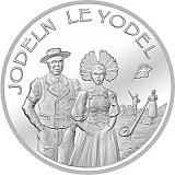 """Pamětní stříbrná mince, 20CHF """"Jódlování"""" stand"""