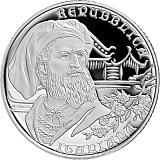 """Pamětní stříbrná mince, 10EUR """"Série Objevitelé - Marco Polo"""" proof"""