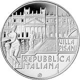 """Pamětní stříbrná mince, 5EUR """"Série Italské umění - Vily Venetian v kraji Veneto"""" proof"""