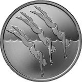 Pamětní stříbrná mince, 1NIS Plavání 2017 proof-like