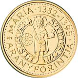 Pamětní zlatá mince, 50000HUF Marie Uherská 2014