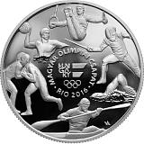 Pamětní stříbrná mince, 10000HUF Letní olympijské hry v Riu 2016 proof