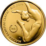 Pamětní zlatá mince, 5000HUF Letní olympijské hry v Riu 2016 proof like