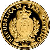 """Sada pamětních zlatých mincí, 50EUR a 20EUR """"25. výročí vstupu San Marino do OSN"""" proof"""