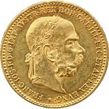 Zlatá minca, 10KORÚN, František Jozef I., 1906