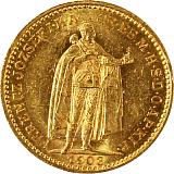 Zlatá minca, 20KORÚN, František Jozef I., 1903