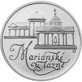 Pamětní stříbrná mince, 50Kčs Mariánské Lázně stand