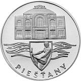 Pamětní stříbrná mince, 50Kčs Piešťany stand