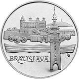 Pamětní stříbrná mince, 50Kčs Bratislava stand